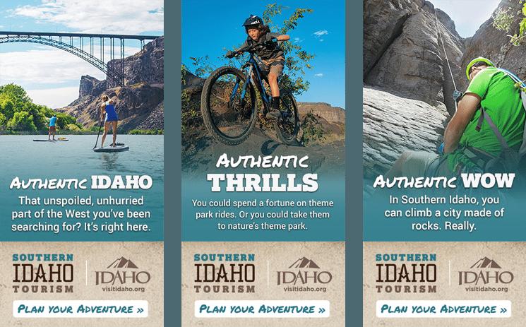 Southern Idaho Tourism TripAdvisor Banner Advertising